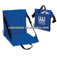 Red and blue Foldable Floor Stadium seat cushions