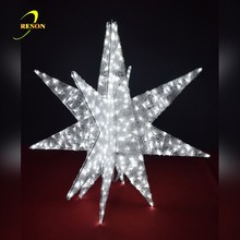 2017 NEW LED Christmas outdoor festival decoration 3d star motif lights