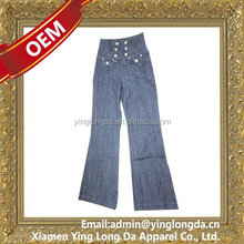 Special hot sale latest design jeans pants for girl
