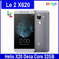 "Original Letv Le 2 LeEco X620 Helio X20 MTK6797 Deca Core Mobile Phone 5.5"" 3GB RAM 1920x1080 16MP Fingerprint Multi Language"