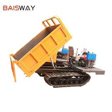 Baisway 2 Ton load mini 12 horsepower agriculture rubber track crawler dump truck