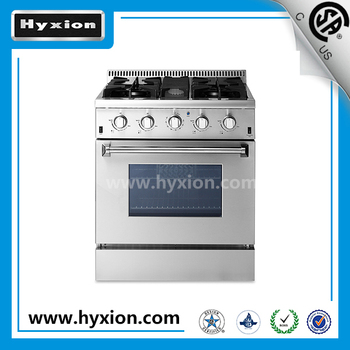4 burner gas stove with grill
