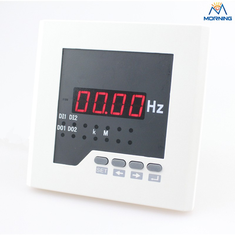 ME-F21 120*120mm Hot sale LED display single phase digital panel frequency meter, measure AC frequency with high-precision