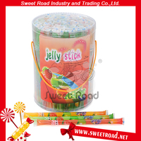 Fruit Flavor Gummy Jelly Stick Mini Fruit Jelly Lolly Confectionery
