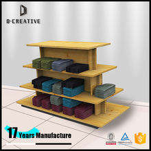 retail store clothing counter table display wood garment table top display four tiers apparel table furniture design