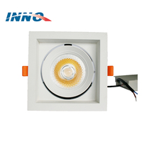 OEM & ODM aluminum housing square cob recessed led grille light 30w ceiling downlight spot led