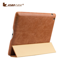 Magnetic smart case for ipad 4 tablet pc Ultra slim folding stand tablet pc genuine leather case for ipad 4