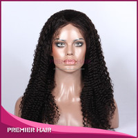 20 inch virgin chinese human hair afro kinky curly lace front wig