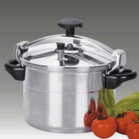 Stainless Steel Big Capacity Satin Polish Pressure Canner Cooker with Bakelite Handle