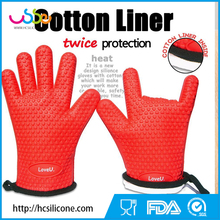 HANCHUAN Silicone Heat Resistant Grilling BBQ Glove silicone heat-resistant bbq gloves
