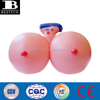 high quality vinyl inflatable giant boobs plastic misaki kawai bubbly girl pool float fun toys for adult