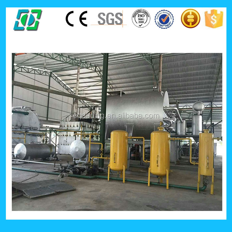 Industrial recycle waste motor oil to diesel fuel plant for Waste motor oil to diesel
