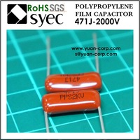 High Voltage 471J 2KV Polypropylene Film Capacitor