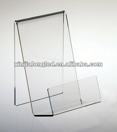 Acrylic Plastic Book Holder Stand Clear Acrylic Book Stand with Ledge
