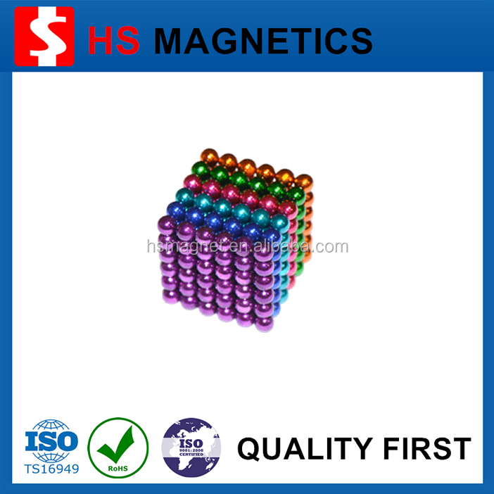 Colorful cheap 5mm 3mm neodymium magnetic balls