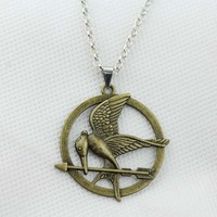 Hunger Games necklace LOGO Mock Bird necklace Ridicule Bird pendant necklace KN-197