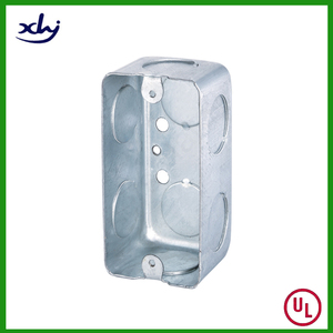 Utility Rectangle Galvanized Metal EMT Electrical Conduit Box
