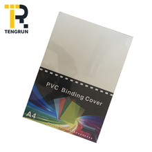 Custom Made A4 Size hard clear plastic sheet pvc book cover