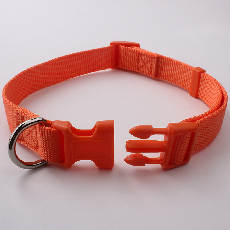 Durable high end adjustable nylon wholesale hunting dog collar
