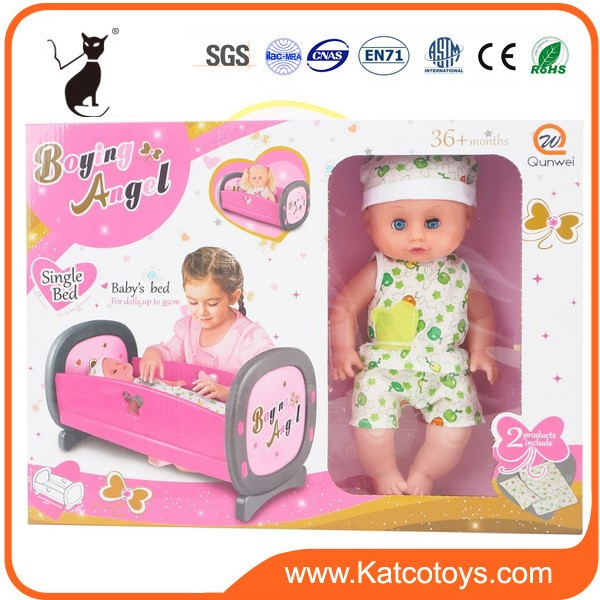 35 cm factory Lovely baby doll bed toys
