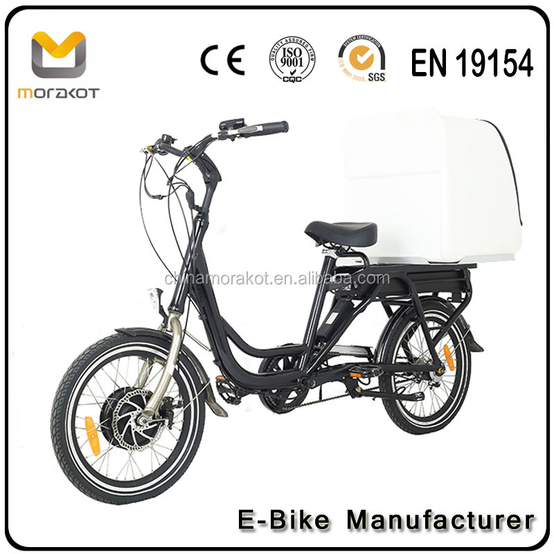 2017 CE OEM Big Plastic Pizza Warm Box Electric Delivery Bicycle 350W/500W 8fun Motor Electric Delivery Bike