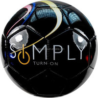 Matte PVC size 5 promotional soccer ball/ cheap machine sewn football in bulk