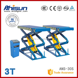in ground scissor lift jacks with factory price