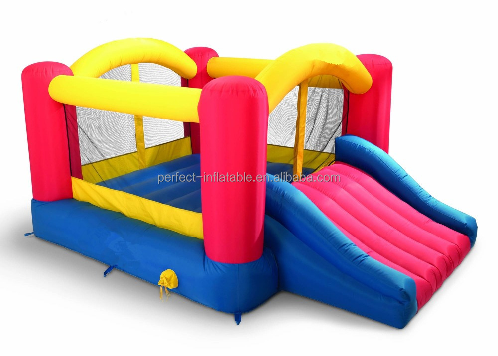 Used Inflatable jumping castle bounce with lovely slide for sale