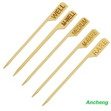 9cm Bamboo Paddle Skewers Burger /Steak Maker Golf Picks