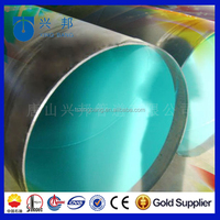 3 pe coating anti-corrosion inner lined with epoxy powder and buried underground steel oil pipeline