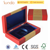 fancy wooden packaging display box for euro coins