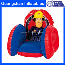 custom portable flocking inflatable chesterfield sofa for kid