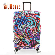 Suitcase Printing Fabric Design Elastic Travel Custom Spandex Luggage Bag Cover luggage Suitcase Protector