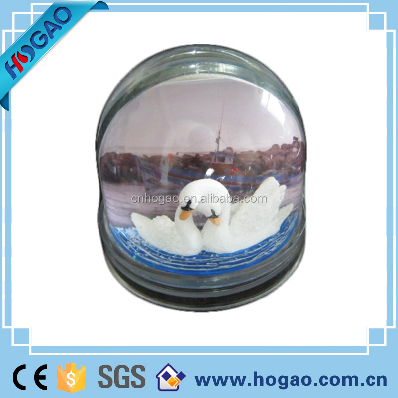 New products souveniers gifts giant ghost and Santa Claus glass surface resin water globe,unique snow globes