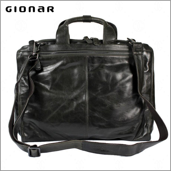 Customized Cow Genuiher Man Business Briefcase 12.5 Inch Laptop Shoulder Bag