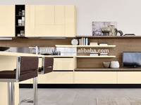 Ready to assemble with quality warrantee factory directly lacquer kitchen furniture cabinets