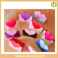 Fashion design paper heart shape handmade greeting card