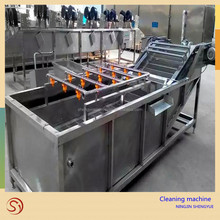 Contibuously non-stop leafy vegetable fruit lettuce cabbage bubble washing washer cleaning machine