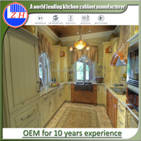 New model simple design vinyl wrapped kitchen cabinet modern