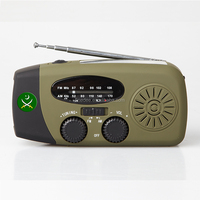 FineDEE A326 Rechargeable Hand Cranking Dynamo Torch Portable Solar FM/AM Radio
