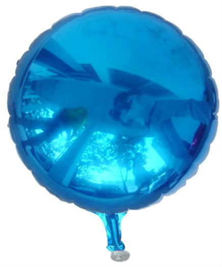 round shape blue shinning foil balloons 45cm free shipping
