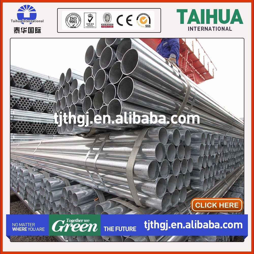 weld galvanized iron zin pipe schedule 40 galvanized steel pipe price