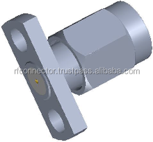 SSMA male 2 hole Field Replaceable Flange Connectors