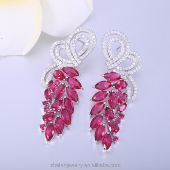 2018 new design bridal earrings customized manufactured in china