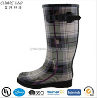 (CH.W085) Wellies with high heel alibaba shoes women winter boots