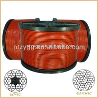 vinyl coated welded wire rope 6x7,7x7,6x19,7x19 pvc steel wire rope