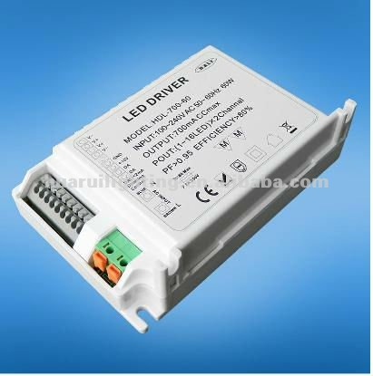 High power DALI 60W LED driver 700/350mA dimmable constant current led driver