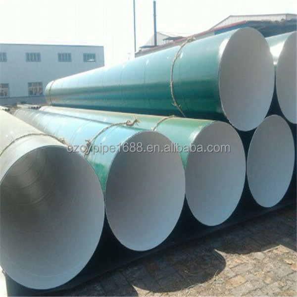 IPN8710 Polymer Anticorrosion Coating Spiral Steel Pipe
