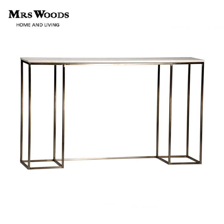 Contemporary French Style Marble Top Console Tables