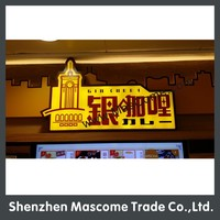 attractive full lit LED sign light box for shop/bar/coffee advertising
